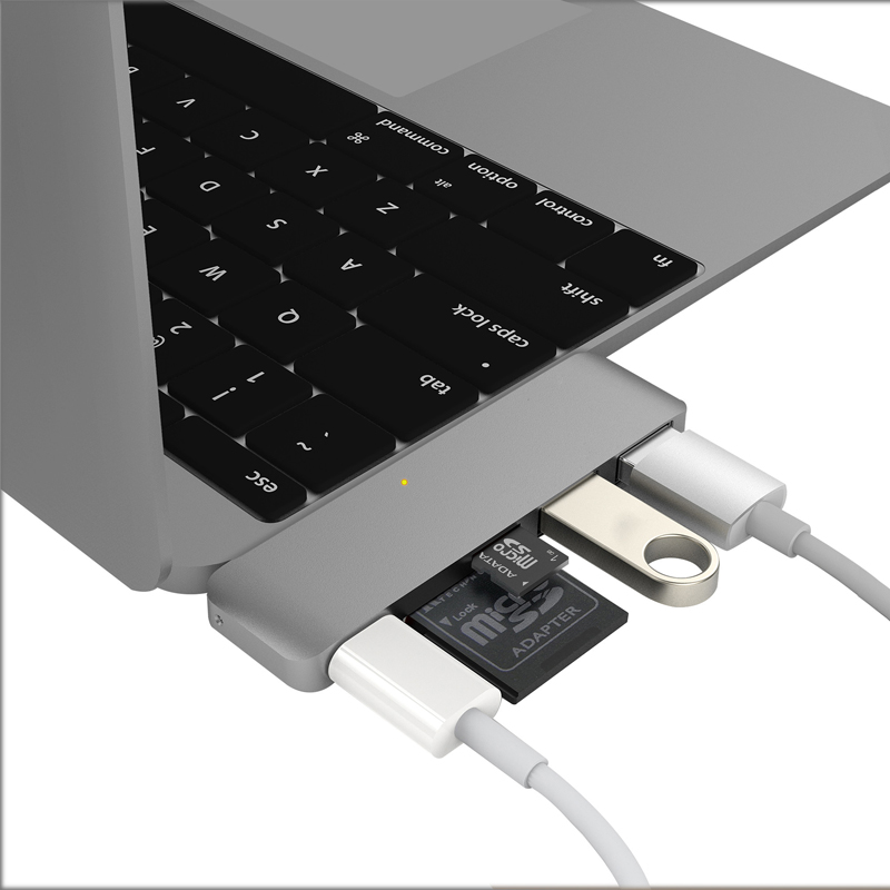 Hyper++ USB Type-C 5 in 1 Hub - スペースグレイ